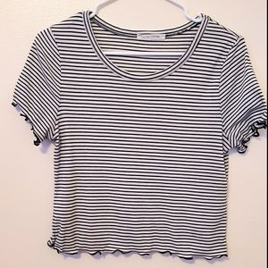 Caution To The Wind  striped crop top